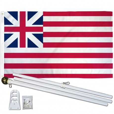 USA Historical Grand Union 3' x 5' Polyester Flag, Pole and Mount