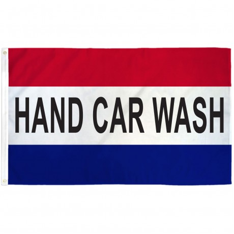 Hand Car Wash 3' x 5' Polyester Flag