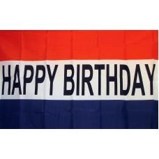 Happy Birthday 3'x 5' Polyester Flag