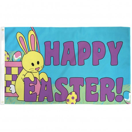 Happy Easter 3' x 5' Polyester Flag