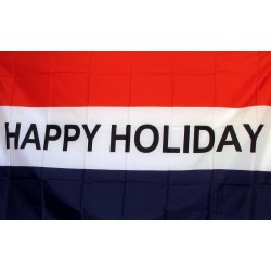 Happy Holiday 3' x 5' Polyester Flag