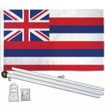 Hawaii State 3' x 5' Polyester Flag, Pole and Mount