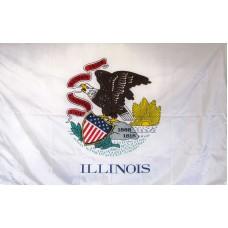 Illinois 3'x 5' Solar Max Nylon State Flag