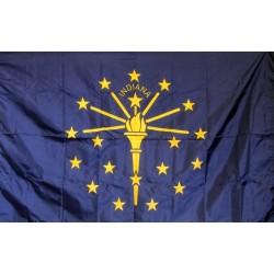 Indiana 3'x 5' Solar Max Nylon State Flag