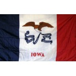 Iowa 3'x 5' Solar Max Nylon State Flag