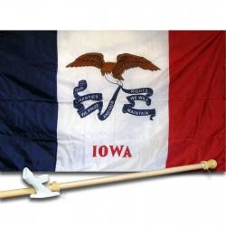 IOWA 3' x 5'  Flag, Pole And Mount.