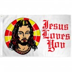 Jesus Loves You 3' x 5' Polyester Flag