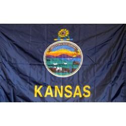 Kansas 3'x 5' Solar Max Nylon State Flag