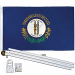 Kentucky State 3' x 5' Polyester Flag, Pole and Mount