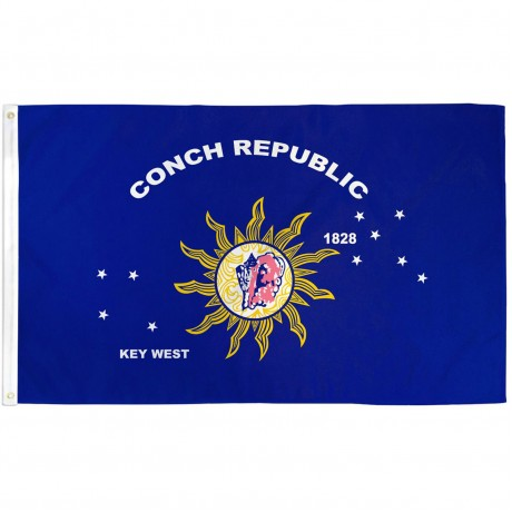 Key West Conch Republic 3' x 5' Polyester Flag