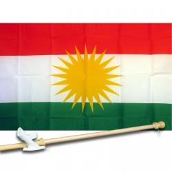 KURDISTAN COUNTRY 3' x 5'  Flag, Pole And Mount.