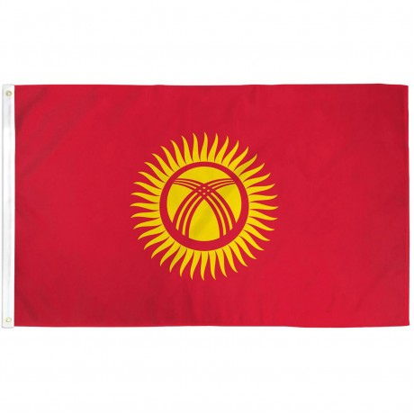 Kyrgyzstan 3'x 5' Country Flag