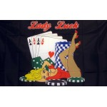 Lady Luck 3'x 5' Novelty Flag