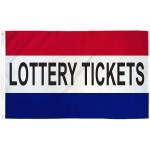 Lottery Tickets Patriotic 3' x 5' Polyester Flag