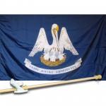 LOUISIANA 3' x 5'  Flag, Pole And Mount.