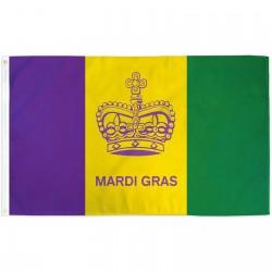 Mardi Gras Historical 3' x 5' Polyester Flag