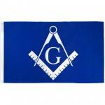 Masonic Historical Blue & White 3'x 5' Flag