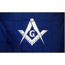 Masonic Historical Blue & White 3'x 5' Flag
