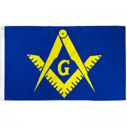 Masonic Blue & Yellow Historical 3'x 5' Flag