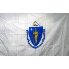 Massachusetts 3'x 5' Solar Max Nylon State Flag