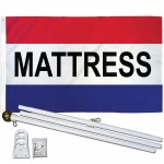 Mattress 3' x 5' Polyester Flag, Pole and Mount