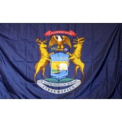 Michigan 3'x 5' Solar Max Nylon State Flag