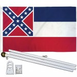 Mississippi State 3' x 5' Polyester Flag, Pole and Mount