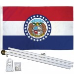 Missouri State 3' x 5' Polyester Flag, Pole and Mount