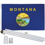 Montana State 3' x 5' Polyester Flag, Pole and Mount