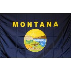 Montana 3'x 5' Solar Max Nylon State Flag