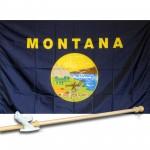 MONTANA 3' x 5'  Flag, Pole And Mount.