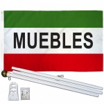 Muebles 3' x 5' Polyester Flag, Pole and Mount