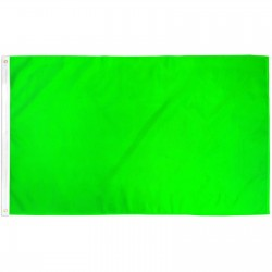 Solid Neon Green 3' x 5' Polyester Flag