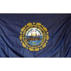 New Hampshire 3'x 5' Solar Max Nylon State Flag