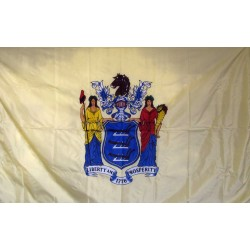 New Jersey 3'x 5' Solar Max Nylon State Flag