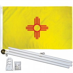New Mexico State 3' x 5' Polyester Flag, Pole and Mount