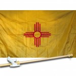 NEW MEXICO 3' x 5'  Flag, Pole And Mount.