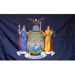 New York 3'x 5' Solar Max Nylon State Flag