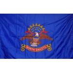 North Dakota 3'x 5' Solar Max Nylon State Flag