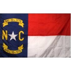North Carolina 3'x 5' Solar Max Nylon State Flag