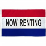 Now Renting Patriotic 3' x 5' Polyester Flag