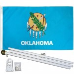Oklahoma State 3' x 5' Polyester Flag, Pole and Mount