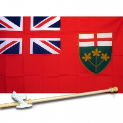 ONTARIO 3' x 5'  Flag, Pole And Mount.