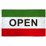 Open Green 3' x 5' Polyester Flag
