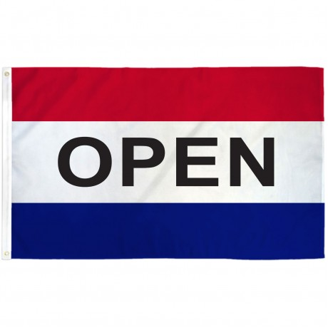 Open Patriotic 3' x 5' Polyester Flag