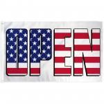 Open USA 3' x 5' Polyester Flag