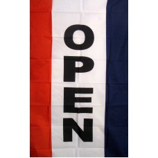 Open Vertical 3' x 5' Polyester Flag