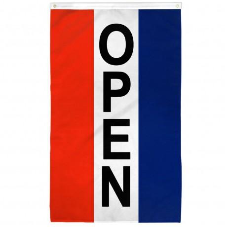 Open Vertical 3' x 5' Polyester Flag