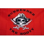 Surrender The Booty Red 3'x 5' Pirate Flag