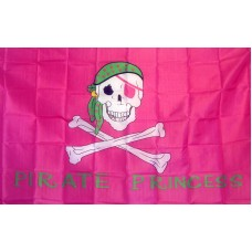 Pirate Princess Pink 3'x 5' Flag